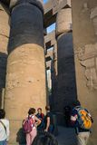 Luxor, Egypt. February 20, 2017: View from below part of the hug royalty free stock photos