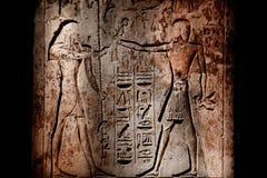 Luxor Egypt hieroglyphics Stock Images