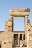 Luxor, Egypt, July 23 2014. Gate near Dendera Temple. Royalty Free Stock Photo