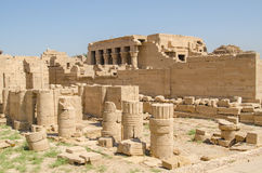 Luxor, Egypt, July 23 2014. Ruins in Dendera Temple. Royalty Free Stock Image