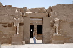 Luxor, Egypt - entrance to temple Stock Images