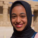 Luxor, Egypt - March 2018: Egyptian girl smiling in Luxor, Egypt. Luxor, Egypt - March 2018: Egyptian girl smiling in Luxor Royalty Free Stock Photo