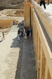 Tourists in Hatshepsut temple. Luxor. Egypt Royalty Free Stock Photography