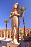 LUXOR, EGYPT: Statue of Bant Anta and Ramses II at Karnak temple Stock Photos