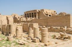 Luxor Egypten, Juli 23 2014 Fördärvar i den Dendera templet royaltyfri bild