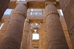luxor för kolonnegypt karnak tempel Arkivfoton