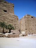 Luxor, gate the Karnak  temple Royalty Free Stock Images