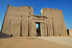 Edfu and Kom Ombo temples from Luxor, Ancient Egypt. royalty free stock images