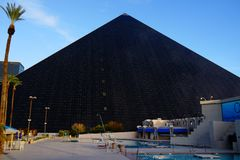 The Luxor Hotel & Casino 103. He pyramid at Luxor Resort in Las Vegas, with its beam of light, provides a striking visual even on the overtly glamorous Las Vegas stock photography
