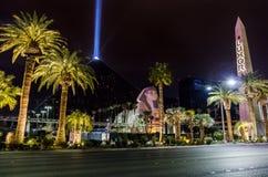 Luxor Hotel Casino and Sky Beam at night - Las Vegas, Nevada, USA Royalty Free Stock Photos