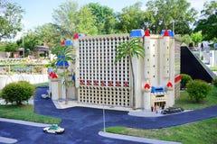 Luxor Hotel at Las Vegas made with Lego blocks at Legoland Florida Stock Image