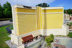 Luxor Hotel at Las Vegas made with Lego blocks at Legoland Florida Stock Images