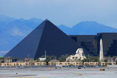 Luxor hotel in Las Vegas strip Stock Photos