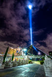 Luxor Hotel and Sky Beam at night - Las Vegas, USA Stock Images