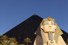 Luxor hotel at sunrise in Las Vegas, NV on April 19, 2013 Royalty Free Stock Photo