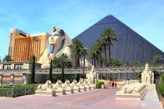 Luxor-Hotel und -kasino in Las Vegas, Nevada stockfotos