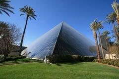 Luxor-Hotelglaspyramide Stockbild