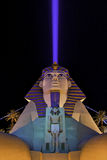 The Luxor, Las Vegas. Photo taken at night from The Las Vegas Blvd royalty free stock photos