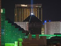 Luxor, MGM and The Hotel in Las Vegas Stock Photography