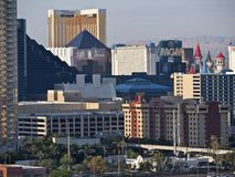 Luxor, MGM and The Hotel in Las Vegas Stock Photos