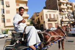 Luxor miasto Egipt zdjęcie stock