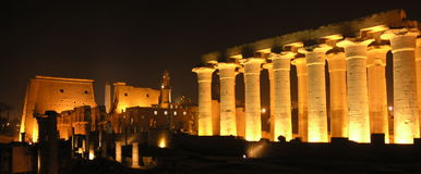 Luxor by night stock photography