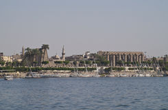 Luxor from Nile Royalty Free Stock Photos