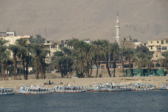 Luxor Nile scenery. On west side stock image