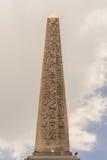 The Luxor Obelisk Obelisque de Louxor. The Luxor Obelisk  is a 23 metres 75 ft high Egyptian obelisk standing at the center of the Place de la Concorde in Paris Royalty Free Stock Photography