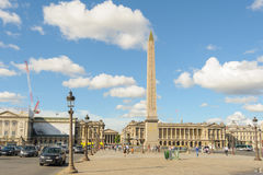 Luxor obelisk in Place de la Concorde Royalty Free Stock Photo