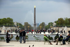 Luxor Obelisk and triumphal arch from Stock Photo