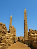 Luxor: Obelisks at the Temple of Karnak Royalty Free Stock Images