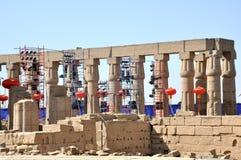 Luxor prepara para o presidente a visita de Xi Jinping chinês Foto de Stock Royalty Free
