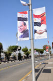 Luxor prepara per presidente cinese la visita di Xi Jinping Immagini Stock Libere da Diritti