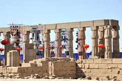 Luxor prepares for Chinese President Xi Jinping's visit Royalty Free Stock Photo