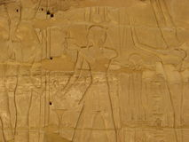 Luxor Relief Egypt. Relief in the Temple of Karnak Luxor. Egypt Royalty Free Stock Photos