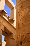 Luxor ruins and colonne Royalty Free Stock Photos