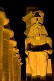 Luxor 's nachts Tempel stock afbeelding