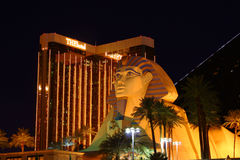 Luxor Sphinx and Mandalay Bay Stock Photo