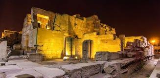 Luxor-Tempel nachts Lizenzfreie Stockbilder