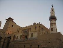 Luxor-Tempel am Sonnenuntergang Lizenzfreie Stockbilder