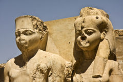 Luxor temple. Details of Egyptian art. An example of the art of the pharaohs Royalty Free Stock Photos