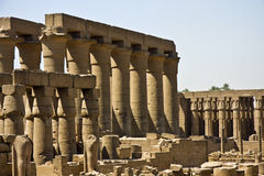Luxor temple. Details of Egyptian art. An example of the art of the pharaohs Royalty Free Stock Image