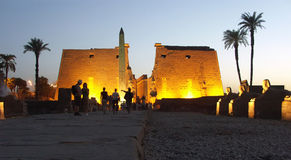 Luxor Temple, Egypt. Entrance to the Luxor Temple, Egypt Stock Photo