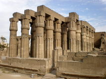 Luxor Temple Egypt. View on the Luxor Temple in Egypt Stock Image