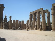 Luxor Temple in Egypt. Ancient ruins in Luxor Temple, Egypt stock image