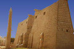 Luxor temple in Egypt. Statue of Ramses at Luxor temple in Egypt Royalty Free Stock Images