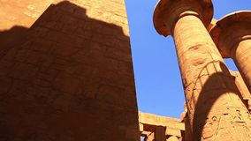 Luxor Temple - Egypt HD Video. Ancient Architecture of Karnak Temple at Luxor - Egypt Luxor temple - Most huge temple at Egypt Full HD Video stock footage