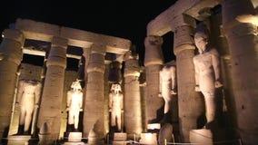 Luxor Temple en el vídeo completo de la noche HD metrajes