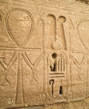 Luxor temple hieroglyphs ankh Stock Photos